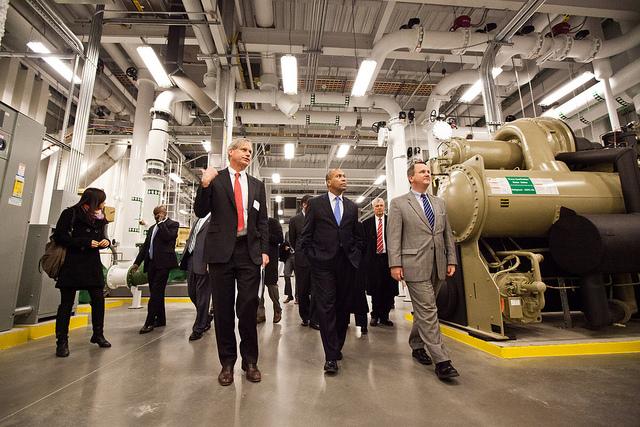 Massachusetts Governor Patrick Reviews MGHPCC Central Plant